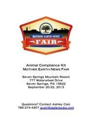 Animal Compliance Kit - Mother Earth News