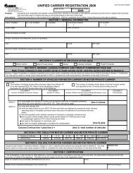 Unified Carrier Registration for 2008 - Virginia Department of Motor ...