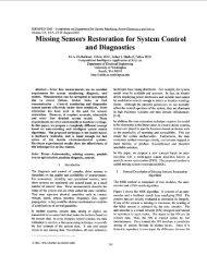 Missing sensors restoration for system control ... - Robert Marks.org