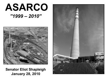 ASARCO powerpoint presentation - Senator Eliot Shapleigh