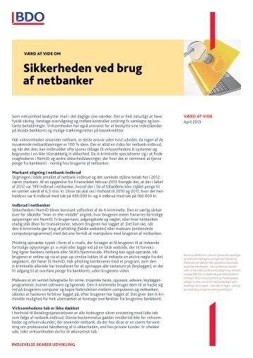 Sikkerheden ved brug af netbanker - BDO