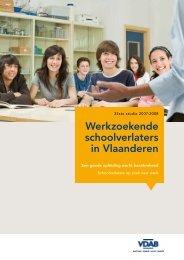 Studie schoolverlaters 2007-2008 (PDF-bestand, 1.8 MB ... - VDAB