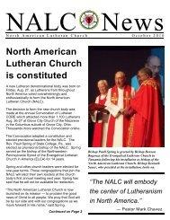 October 2010 - North American Lutheran Church