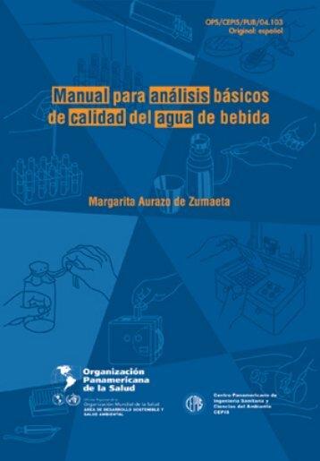manual para análisis básicos de calidad del agua de bebida - BVSDE