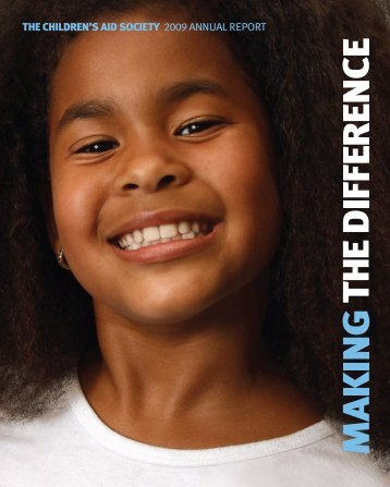 Download the 2009 Annual Report - The Children's Aid Society