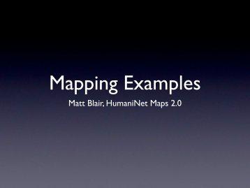 Matt Blair, HumaniNet Maps 2.0