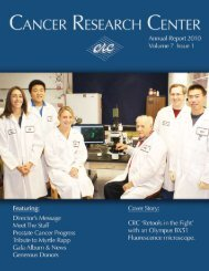 2010 Annual Report - Cancer Research Center