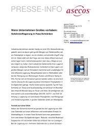 Gefahrstofflagerung in Fass-Schränken - Asecos GmbH