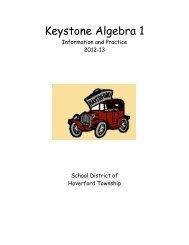 Keystone Algebra 1 - Haverford Township School District