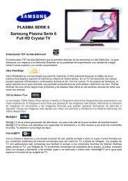 PLASMA SERIE 6 Samsung Plasma Serie 6 Full HD ... - Supersonido