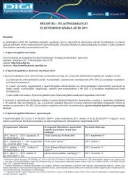 részvételi - és játékszabályzat elektronikus számla játék 2011 - Digi