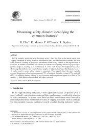 Measuring safety climate: identifying the common features$