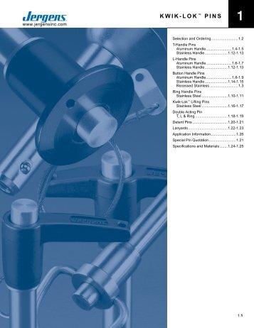 KWIK-LOK™ PINS - Jergens Inc.