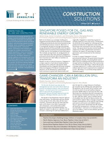 construction solutions - FTI Consulting