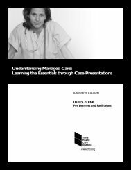 Understanding Managed Care - Tufts Health Care Institute