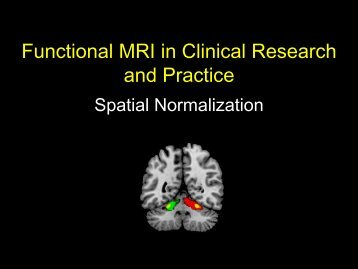 Functional MRI in Clinical Research and Practice - Neurometrika