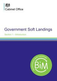 Government Soft Landings Section 1 – Introduction - BIM Task Group