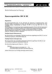 B etriebsanleitung Spannungswächter SW 32 SE - Ziehl industrie ...