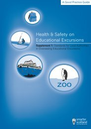 Health and Safety on Educational Excursions (Supplement 1)
