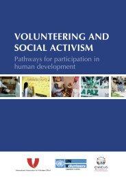 VOLUNTEERING AND SOCIAL ACTIVISM - United Nations Volunteers