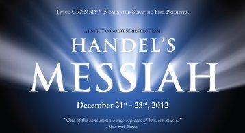 December, 2012: Handel's Messiah - Seraphic Fire