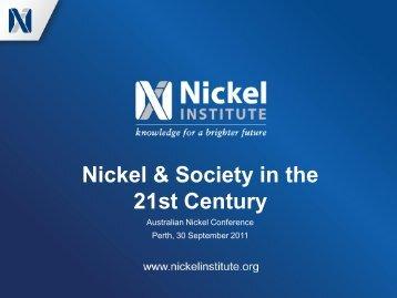 Nickel & Society in the 21st Century - Nickel Institute