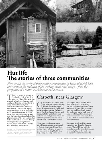 Hut life The stories of three communities - Reforesting Scotland
