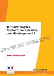 actes du colloque du 4 decembre 2008 - DREAL des Pays de la Loire