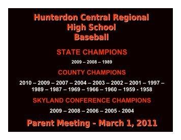 March 1, 2011 - Hunterdon Central Regional High School