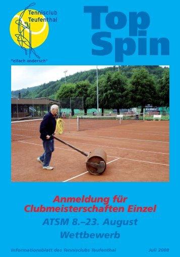 TopSpin 3/08 - Tennisclub Teufenthal