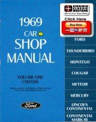 Demo - 1969 Ford Car Shop Manual - ForelPublishing.com