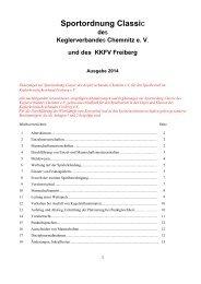 Sportordnung KVS - Keglerkreisfachverband Freiberg eV
