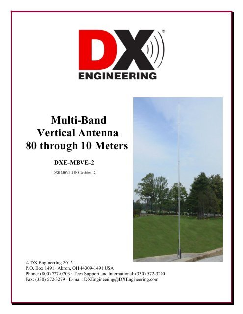 Multi-Band Vertical Antenna 80 through 10 Meters - DX Engineering