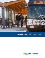 Service Plan  2011/12–13/14 - BC Transit