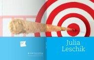 Katalog Julia Leschik (PDF: 809 KB) - Jürgen Ponto-Stiftung