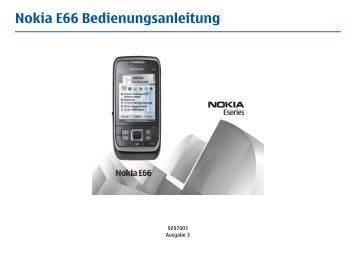 Nokia-E66-Bedienungsanleitung.pdf herunterladen - Fonmarkt.de