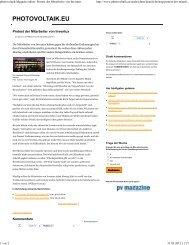 photovoltaik-Magazin online_ Protest der Mitarbeiter von Inventux