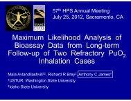 Maximum Likelihood Analysis of Bioassay Data from Long-term - ustur