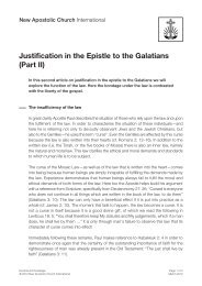 Justification in the Epistle to the Galatians (Part II)