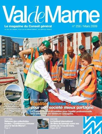 ValdeMarne n° 256 / Mars 2009 - Conseil général du Val-de-Marne