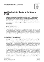 Justification in the Epistle to the Romans (Part I)