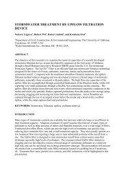 stormwater treatment by upflow filtration device - Unix.eng.ua.edu