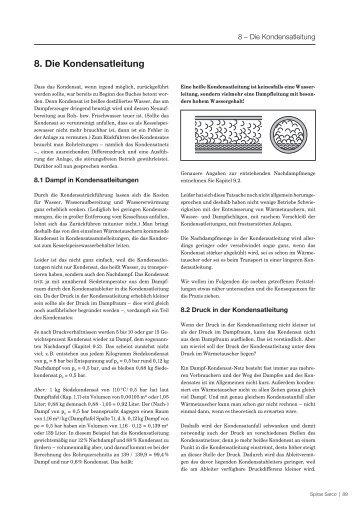 8. Die Kondensatleitung - Spirax Sarco