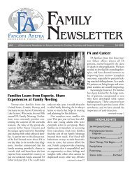 Family Newsletter #28 - Fanconi Anemia Research Fund