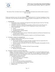 Operational Guidelines of the NYSCC Revised August 2011