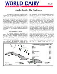 Market Profile: The Caribbean - US Dairy Export Council