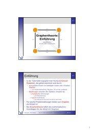 Graphentheorie: Einführung Einführung - Telematik TH Wildau