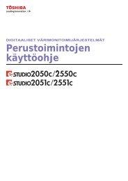 Perustoimintojen käyttöohje - Toshiba Tec Nordic