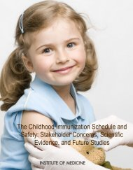 The Childhood Immunization Schedule and Safety: Stakeholder ...