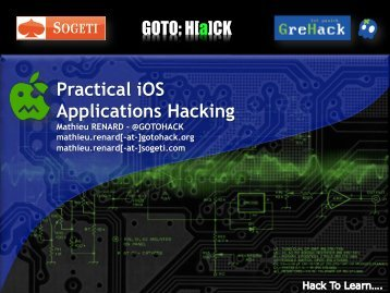 Practical iOS Apps hacking - Reverse Engineering Mac OS X